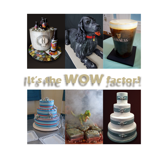 Special occasion cakes, sculpted cakes, and wedding cakes